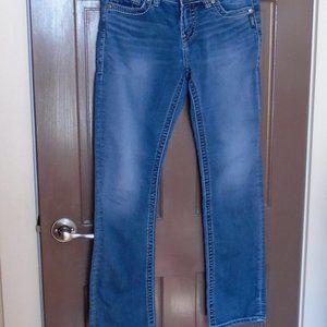 SILVER SUKI Mid Straight Joga Jeans W30/L32